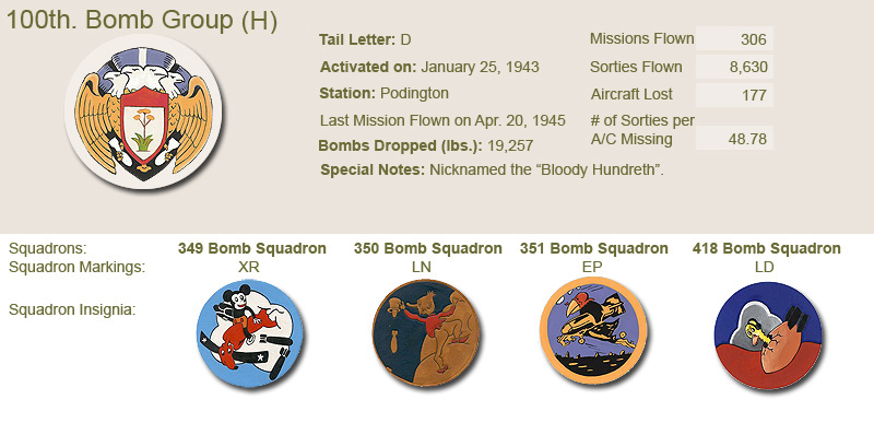 100th Bomb Group and Unit Insignias