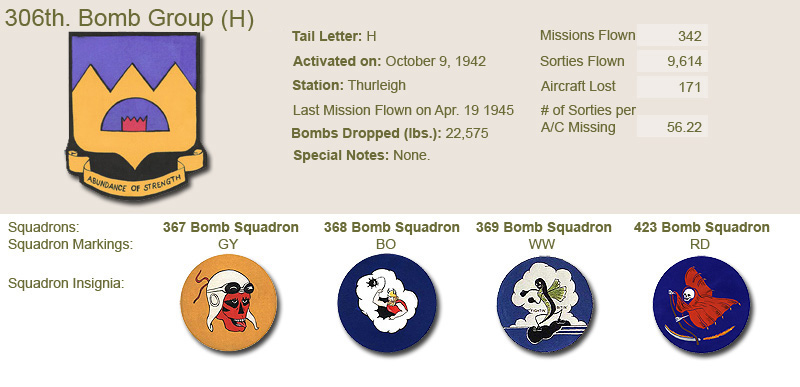 306th Bomb Group and Unit Insignias