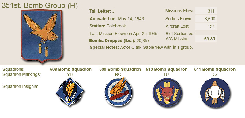 351st Bomb Group and Unit Insignias