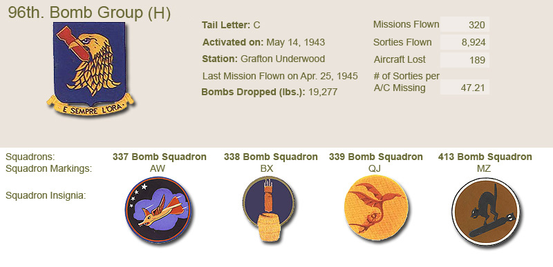 96th Bomb Group and Unit Insignias